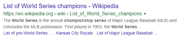 List of world series champions screenshot