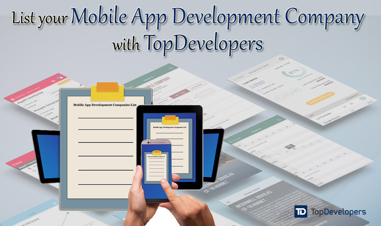 Mobile app development company listing